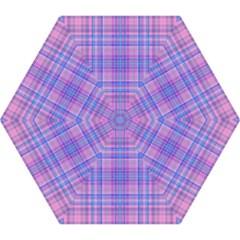 Plaid Design Mini Folding Umbrellas by Valentinaart