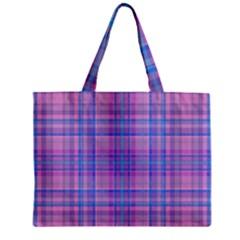 Plaid Design Zipper Mini Tote Bag by Valentinaart