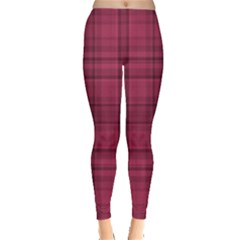 Plaid design Leggings  by Valentinaart