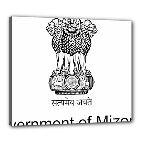 Seal Of Indian State Of Mizoram Canvas 24  X 20  by abbeyz71