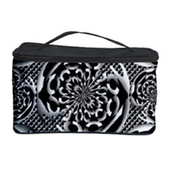 Metallic Mesh Pattern Cosmetic Storage Case by linceazul