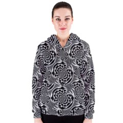 Metallic Mesh Pattern Women s Zipper Hoodie by linceazul
