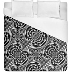 Metallic Mesh Pattern Duvet Cover (king Size) by linceazul