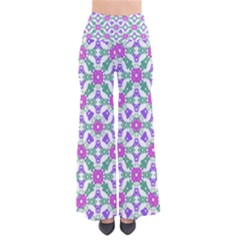 Multicolor Ornate Check Pants by dflcprints