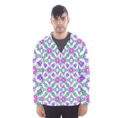 Multicolor Ornate Check Hooded Wind Breaker (men) by dflcprintsclothing