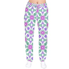 Multicolor Ornate Check Drawstring Pants by dflcprintsclothing