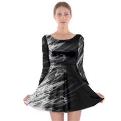 Fire Long Sleeve Skater Dress