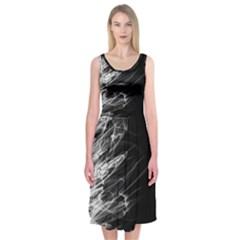 Fire Midi Sleeveless Dress