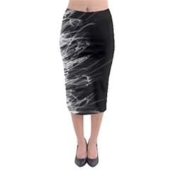 Fire Midi Pencil Skirt