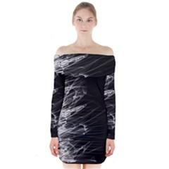 Fire Long Sleeve Off Shoulder Dress