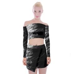 Fire Off Shoulder Top with Skirt Set