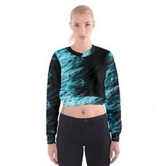 Fire Cropped Sweatshirt by Valentinaart