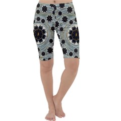 Wood In The Soft Fire Galaxy Pop Art Cropped Leggings  by pepitasart