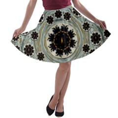 Wood In The Soft Fire Galaxy Pop Art A Line Skater Skirt by pepitasart
