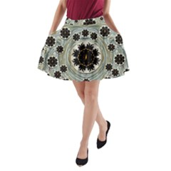 Wood In The Soft Fire Galaxy Pop Art A Line Pocket Skirt by pepitasart