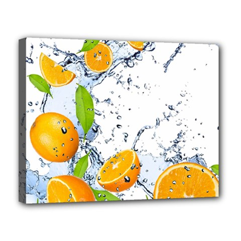 Fruits Water Vegetables Food Canvas 14  x 11