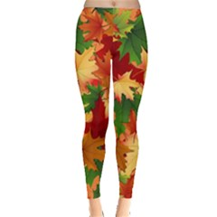 Autumn Leaves Leggings  by Gogogo