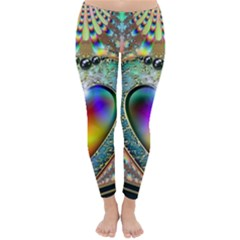 Rainbow Fractal Classic Winter Leggings by Gogogo