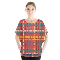 Colorful Line Segments Blouse by linceazul