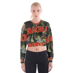 Dracula Cropped Sweatshirt by Valentinaart