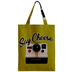 Say Cheese Zipper Classic Tote Bag by Valentinaart