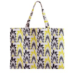 Tricolored Geometric Pattern Mini Tote Bag by linceazul