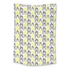 Tricolored Geometric Pattern Large Tapestry by linceazul