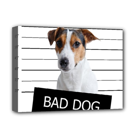 Bad Dog Deluxe Canvas 16  X 12   by Valentinaart