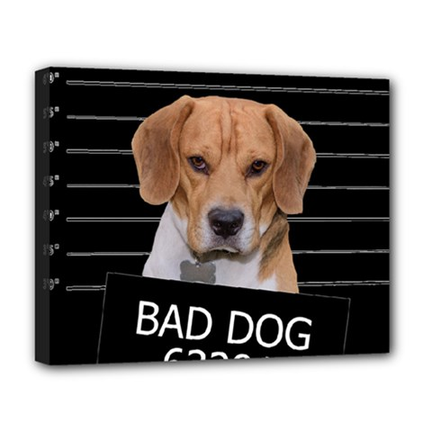 Bad Dog Deluxe Canvas 20  X 16   by Valentinaart