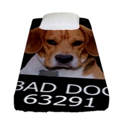 Bad Dog Fitted Sheet (single Size) by Valentinaart