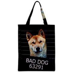 Bad Dog Zipper Classic Tote Bag by Valentinaart