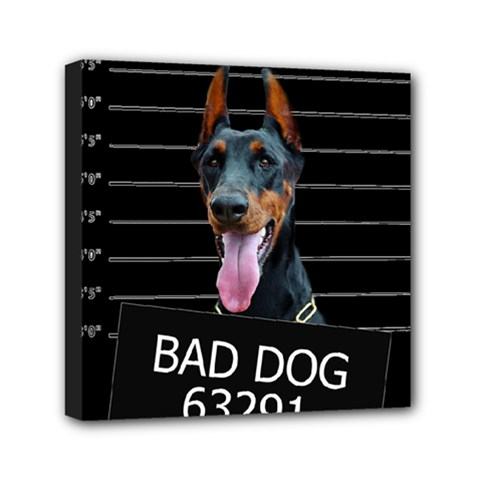 Bad Dog Mini Canvas 6  X 6  by Valentinaart