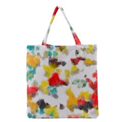 Colorful Paint Stokes           Grocery Tote Bag by LalyLauraFLM