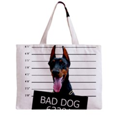 Bad Dog Zipper Mini Tote Bag by Valentinaart