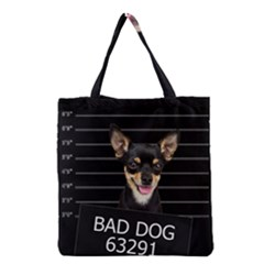 Bad Dog Grocery Tote Bag by Valentinaart