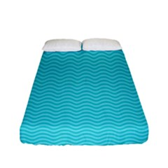 Blue Waves Pattern  Fitted Sheet (full/ Double Size) by TastefulDesigns