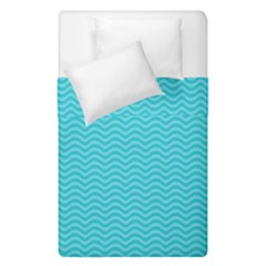 Blue Waves Pattern  Duvet Cover Double Side (single Size) by TastefulDesigns