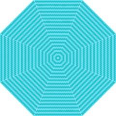 Abstract Blue Waves Pattern Golf Umbrellas