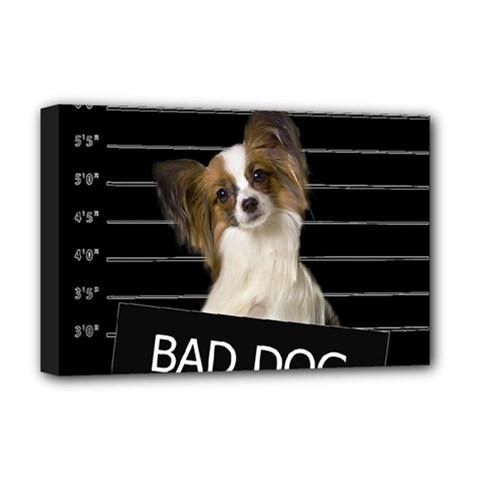 Bad Dog Deluxe Canvas 18  X 12   by Valentinaart