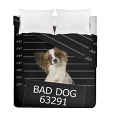 Bad dog Duvet Cover Double Side (Full/ Double Size) by Valentinaart