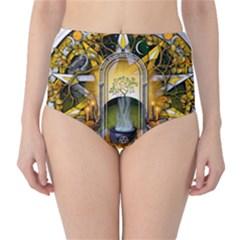 Samhain Sabbat Pentacle High Waist Bikini Bottoms by NaumaddicArts