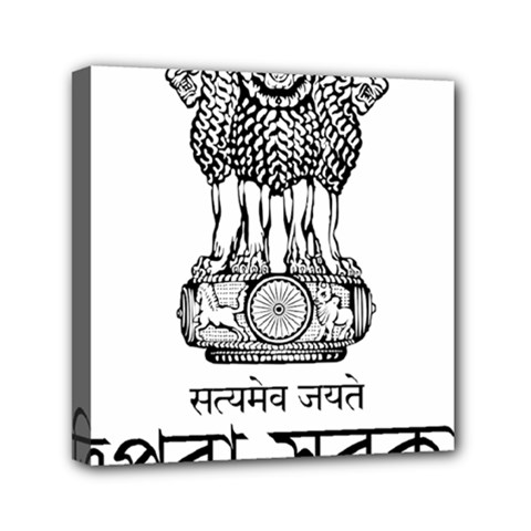 Seal Of Indian State Of Tripura Mini Canvas 6  X 6  by abbeyz71