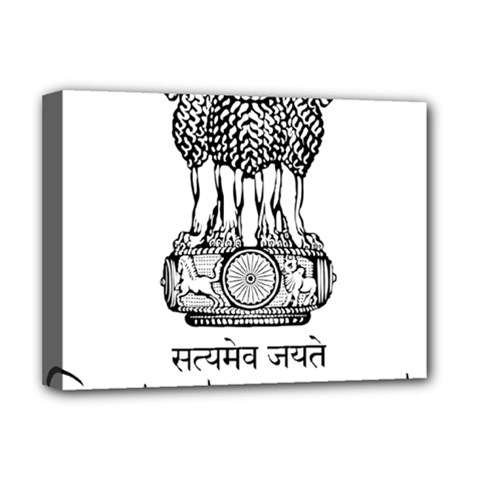 Seal Of Indian State Of Tripura Deluxe Canvas 16  X 12   by abbeyz71