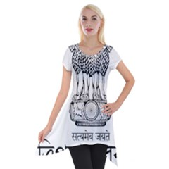 Seal Of Indian State Of Tripura Short Sleeve Side Drop Tunic by abbeyz71