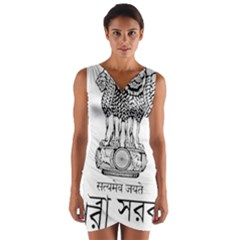 Seal Of Indian State Of Tripura Wrap Front Bodycon Dress by abbeyz71