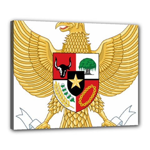 National Emblem Of Indonesia  Canvas 20  X 16  by abbeyz71