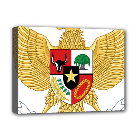 National Emblem Of Indonesia  Deluxe Canvas 16  X 12   by abbeyz71