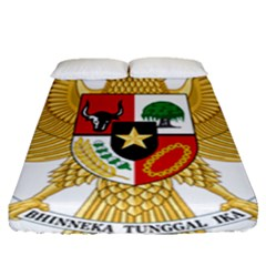 National Emblem Of Indonesia  Fitted Sheet (queen Size) by abbeyz71