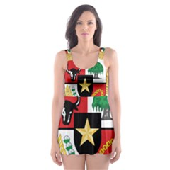 National Emblem Of Indonesia  Skater Dress Swimsuit by abbeyz71