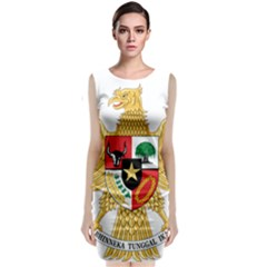National Emblem Of Indonesia  Sleeveless Velvet Midi Dress by abbeyz71